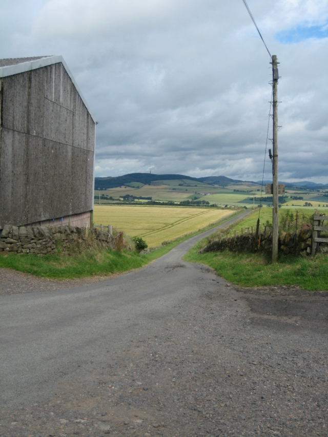 A dramatic view from one of two farms we stayed at  in St. Andrews.