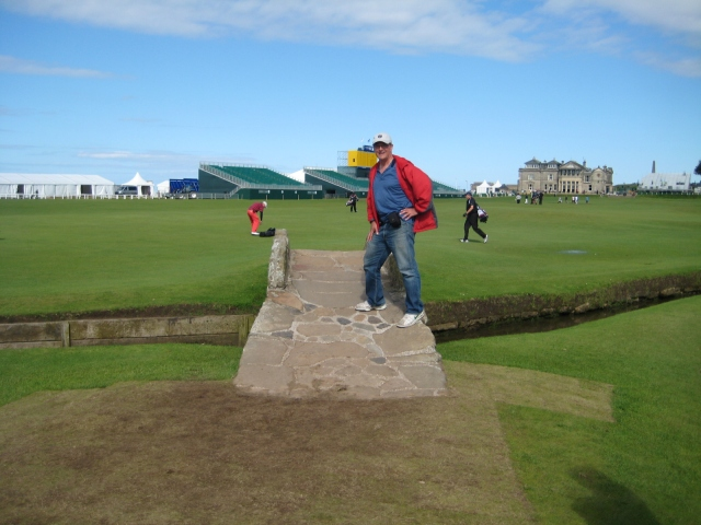 The Old Course's famed Swilcan Bridge.  Eat your heart out, Tom Watson