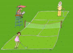 My golf AND tennis games feel like this sometimes.