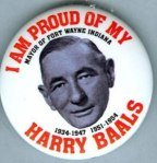 Harry Baals.  Somebody in Ft. Wayne has a sense of humor.